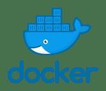 Het logo van Docker